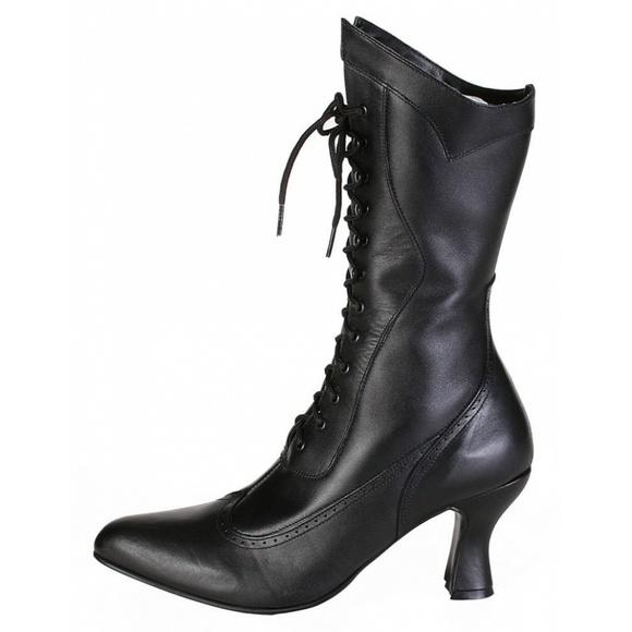 56c7cae6912c NWOB Oak Tree Farms Black Victorian Boots 6 Vows